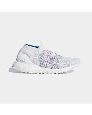 adidas UltraBOOST Laceless B75857 Blanche Multi-Color Rainbow