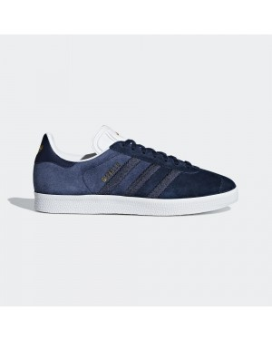 Adidas CG6058 Femme Gazelle Décontractée Chaussures Navy Blanche