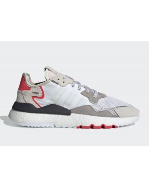 adidas Nite Jogger 2019 Boost 3M Blanche/Rouge-Gris F34123