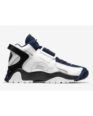 Nike Air Barrage Mid Blanche Navy Or AT7847-101