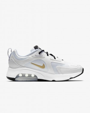 "Femme Air Max 200 ""Blanche Métallique Or"" - Nike - AT6175-102"