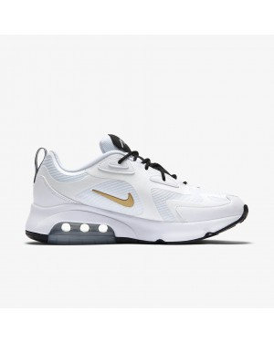 AQ2568-102 Nike Air Max 200 Blanche Métallique Or