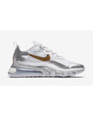 "Nike Air Max 270 React ""City of Speed"" Blanche CQ4597-110"