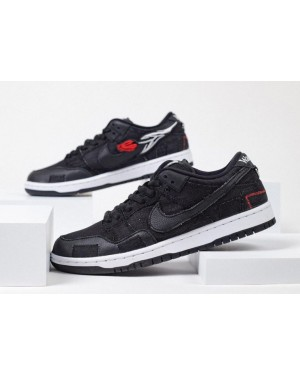 Wasted Youth x Nike SB Dunk Low Noir/Rouge-Blanche-Noir DD8386-001