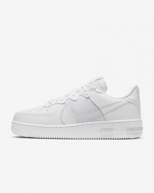 Nike Air Force 1 React CT1020-101 Blanche/Pure Platinum