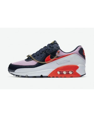 "Nike Air Max 90 ""Cuban Link"" CZ8099-100 Bleu/Rose"