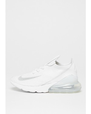 Nike Air Max 270 Flyknit Blanche/Gris/Blanche AO1023-102