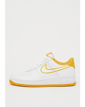 6b9b2c2d96f Nike Air Force 1  07 Leather Blanche Jaune AJ7280-101 ...
