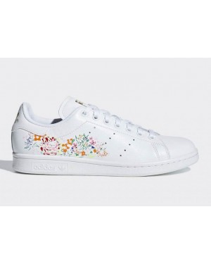 Adidas Stan Smith Blanche/Blanche-Or Métallique BC0259